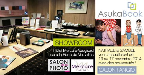 Showroom AsukaBook Salon de la Photo 2014 à Paris