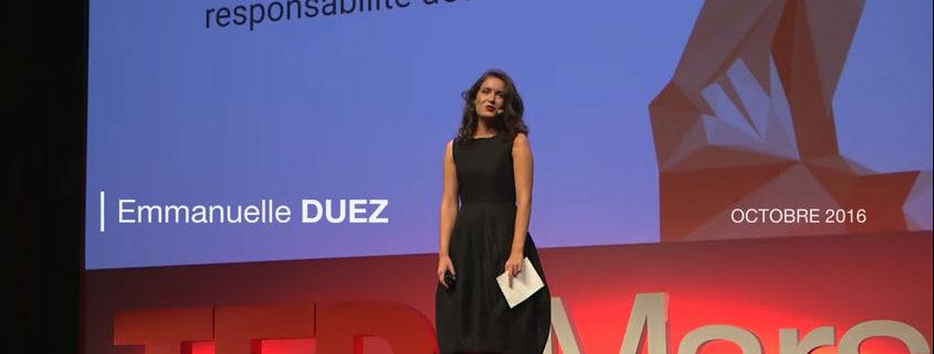 Emmanuelle Duez - TEDx Marseille - Octobre 2016