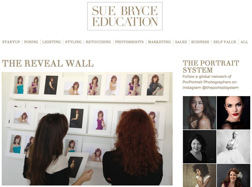 Sue Bryce - The Reveal Wall