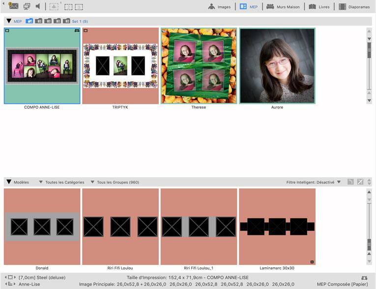 ProSelect : Gestion des modèles de mise en page de composition