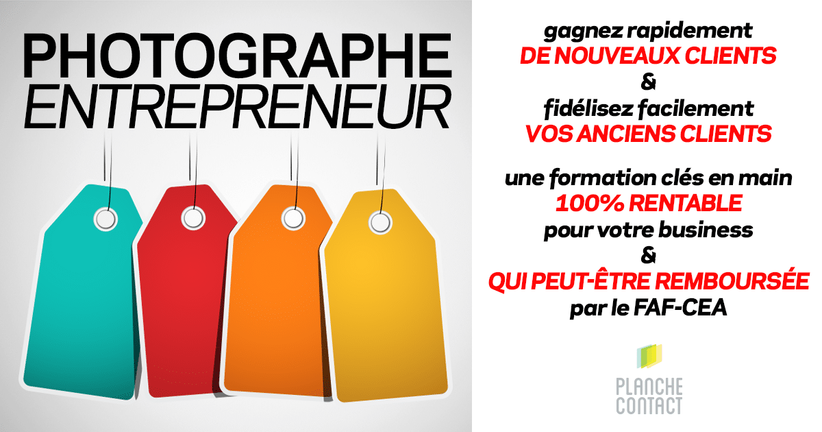 Formation Photographe Entrepreneur