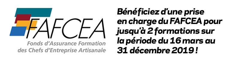 Bénéficiez d'une prise en charge du FAFCEA pour jusqu'à 2 formations sur la période du 16 mars au 31 décembre 2019 !