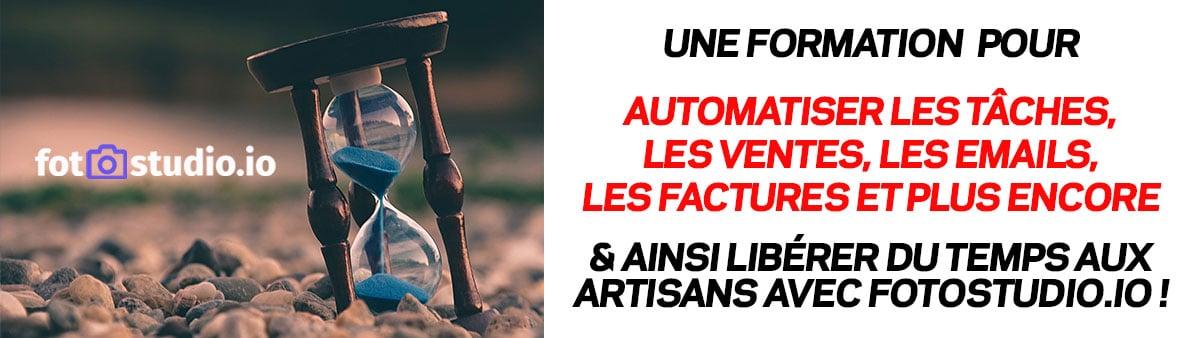 Automatisation de tâches pour les artisans avec le CRM avec Fotostudio.io