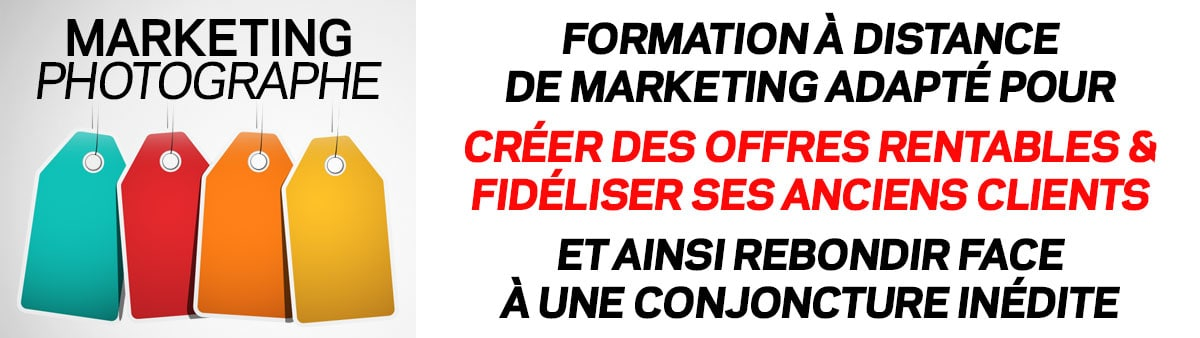 Formation à distance Marketing Photographe